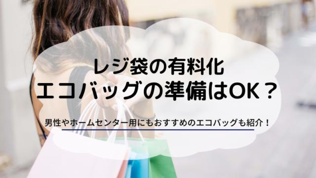 レジ袋 有料化 男性 ホームセンター コンビニ エコバッグ おすすめ コンパクト 人気